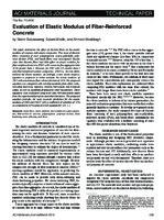 Evaluation of elastic modulus of fiber-reinforced concrete